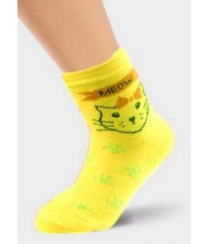Желтые носки для девочки 1-2 лет