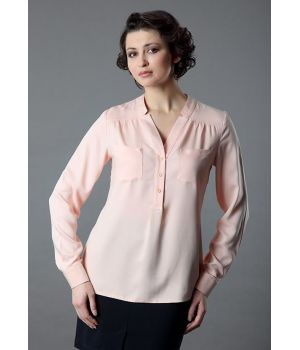 Блузка женская цвета пудра