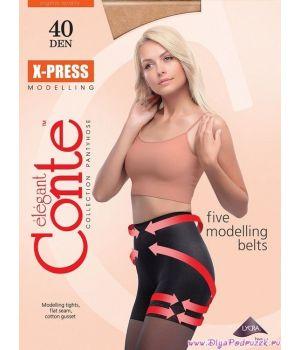 Черные колготки X-Press 40 Den размер 5