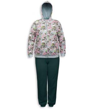 Комплект женский из жакета и брюк на размер XXL