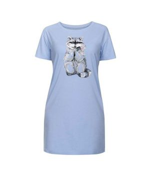 Голубое женское платье Енот