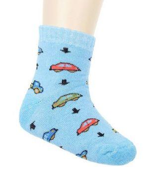 Носки махровые для мальчика, цвет голубой