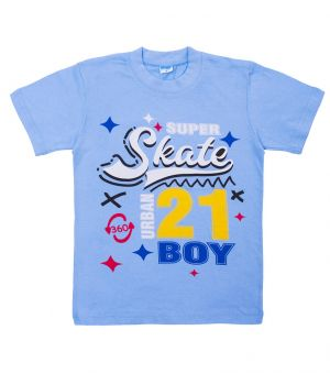 Голубая футболка для мальчика Super skate