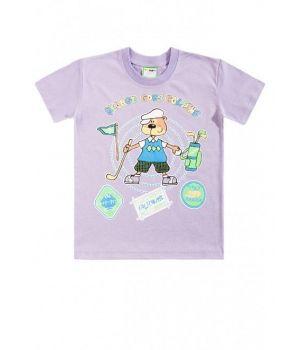 Сиреневая футболка для мальчика Гольфист