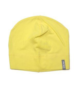 Желтая шапка из хлопка