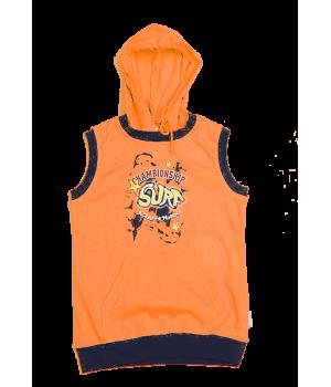 Майка оранжевая для мальчика 8 лет