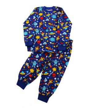 Пижама для мальчика Космос на размер 80