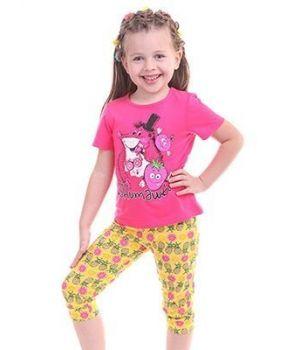Желто-розовая пижама Фрукты