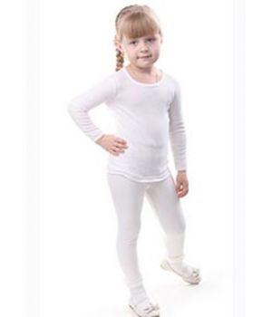 Белая приталенная футболка для девочки