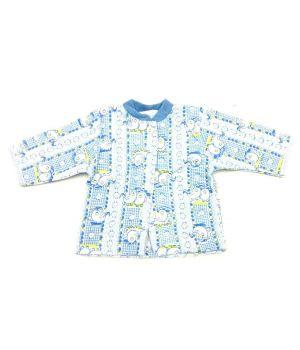 Кофта ясельная голубая для мальчика 56 размера