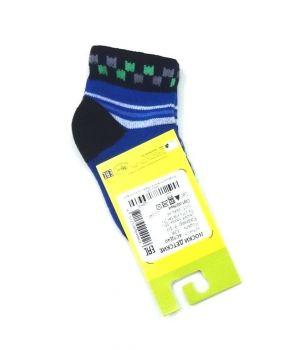 Черно-синие носки с квадратами на размер 9-10