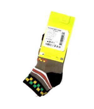 Серо-черные носки с квадратами