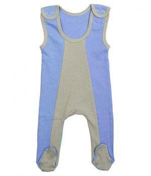 Полукомбинезон серо-голубого цвета для мальчика