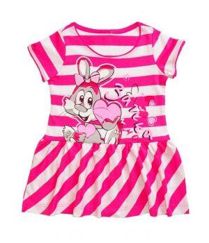 Полосатое розовое платье Зайка моя