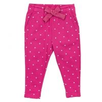 Зауженные брюки для девочки в горошек